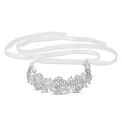 No. 1 Jenny Packham - Designer crystal filigree and ribbon headband