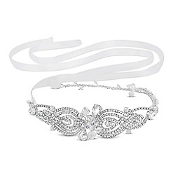 No. 1 Jenny Packham - Designer crystal swirl and ribbon headband