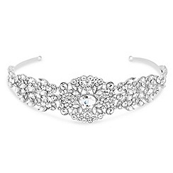 No. 1 Jenny Packham - Designer silver crystal vintage inspired head band