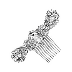 No. 1 Jenny Packham - Designer double feather hair comb