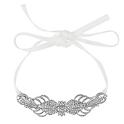 No. 1 Jenny Packham - Designer crystal deco ribbon hair halo