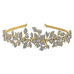 No. 1 Jenny Packham - Designer gold crystal floral headband