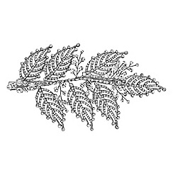 No. 1 Jenny Packham - Designer statement crystal leaf hair clip