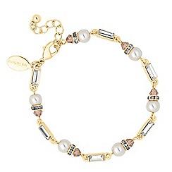 No. 1 Jenny Packham - Designer peach and pearl baguette link bracelet