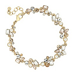 No. 1 Jenny Packham - Designer pearl and mixed stone link bracelet
