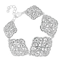 No. 1 Jenny Packham - Designer crystal filigree five link bracelet