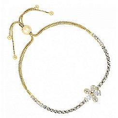 No. 1 Jenny Packham - Designer cubic zirconia floral toggle bracelet