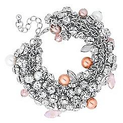 No. 1 Jenny Packham - Designer pastel crystal cluster bracelet