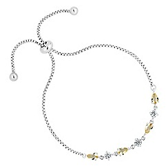 No. 1 Jenny Packham - Designer canary cubic zirconia toggle bracelet