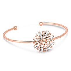 No. 1 Jenny Packham - Designer rose gold crystal sun bangle