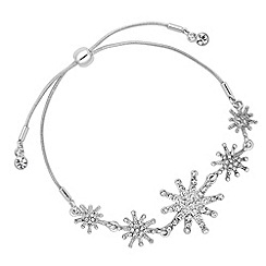 No. 1 Jenny Packham - Designer silver crystal star toggle bracelet