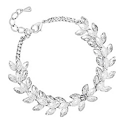No. 1 Jenny Packham - Designer silver crystal charm bracelet