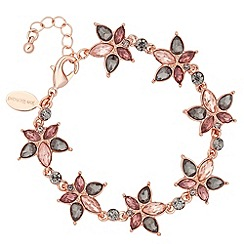 No. 1 Jenny Packham - Designer rose gold multi crystal bracelet