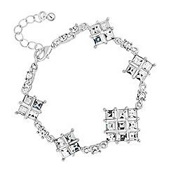 No. 1 Jenny Packham - Designer silver crystal vintage style bracelet