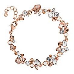No. 1 Jenny Packham - Designer rose gold crystal cluster bracelet