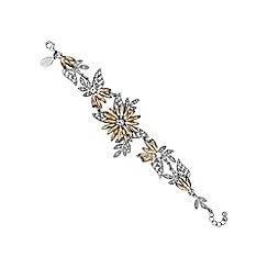 No. 1 Jenny Packham - Designer multi tone floral bracelet