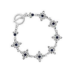 No. 1 Jenny Packham - Designer blue floral bracelet