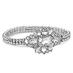 No. 1 Jenny Packham - Designer crystal floral bracelet