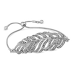 No. 1 Jenny Packham - Designer crystal feather toggle bracelet