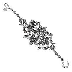 No. 1 Jenny Packham - Designer grey tonal floral bracelet