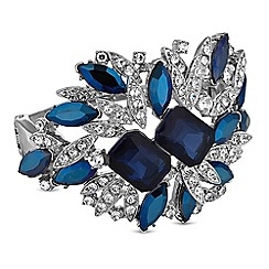 No. 1 Jenny Packham - Designer statement blue crystal cuff bracelet