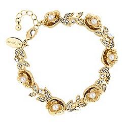 No. 1 Jenny Packham - Designer gold floral bracelet