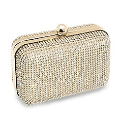 Jon Richard - Online exclusive gold diamante clutch bag