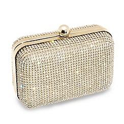 Jon Richard - Online exclusive gold diamante clutch bag