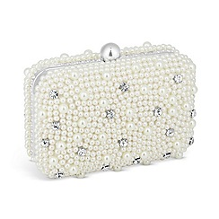 Jon Richard - Pearl and stone set clutch bag