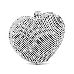 Jon Richard - Online exclusive diamante crystal heart clutch bag