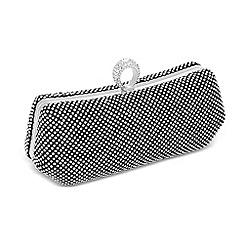 Jon Richard - Online exclusive diamante ring clasp clutch bag