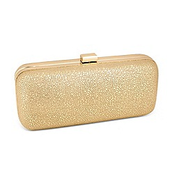 Jon Richard - Crackled effect gold fabric clutch bag