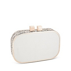 Jon Richard - Gold glitter surround satin clutch bag