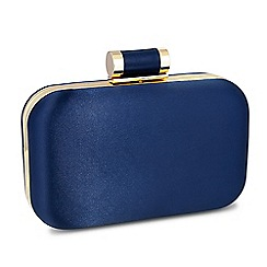 Jon Richard - Online exclusive blue satin toggle fastening clutch bag