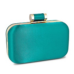 Jon Richard - Online exclusive green satin toggle fastening clutch bag