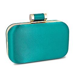 Jon Richard - Online exclusive green satin toggle fastening clutch bag