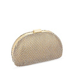 Jon Richard - Gold crystal oval clutch bag