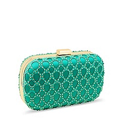 Jon Richard - Green crystal cut out clutch bag