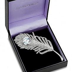 Jon Richard - Statement crystal large feather brooch