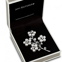 Jon Richard - Four pearl flower brooch