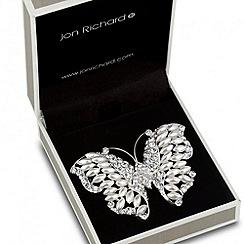 Jon Richard - Pearl embellished butterfly brooch