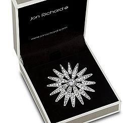 Jon Richard - Crystal embellished spike effect brooch