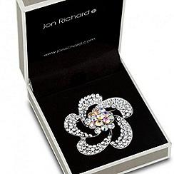 Jon Richard - Aurora borealis crystal floral brooch