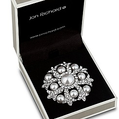 Jon Richard - Pearl encased crystal surround brooch