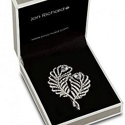 Jon Richard - Double crystal peacock feather brooch