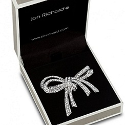 Jon Richard - Double crystal bow brooch