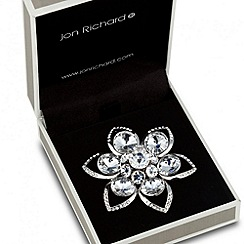 Jon Richard - Crystal cluster centre flower brooch