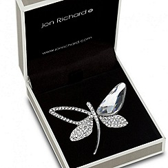 Jon Richard - Crystal embellished dragonfly brooch