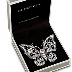 Jon Richard - Aurora borealis filigree butterfly brooch