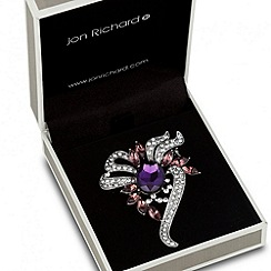 Jon Richard - Purple stone set twist brooch